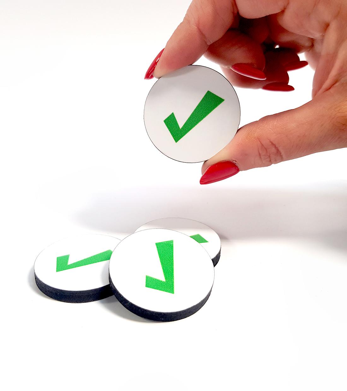 Task Tick Indicator Magnets - indigovisual